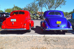United We Stand (oybay) Tags: widetrack oversized wheelbase general motors generalmotors blue iconic icon logo coollogo car automobile blackcar racecar scottsdale arizona carshow tatumranch tatum ranch color colors colorful outdoor lines ford chevy red vehicle