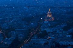 NH0A1379s (michael.soukup) Tags: paris france montparnasse lesinvalides dome bluehour arcdetriomphe arch architecture skyline cityscape sunset dusk city lights gold blue