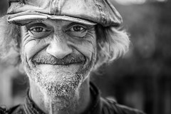Nathan (andy_8357) Tags: sony a6000 6000 ilce6000 ilcenex nex mirrorless alpha pearl street st bouldler colorado 60mm f28 dn art lens sigma nathan friendly aged old man beard mustache guy kind nice afternoon bokeh light character hat smile compassion compassionate e mount bw friend
