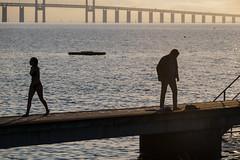 On the Dock (Infomastern) Tags: malm sibbarp bridge bro brygga dock hav mnniska people pier sea water resundsbron
