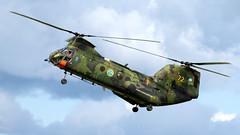 Kawasaki HKP 4C. (spencer.wilmot) Tags: hkp4 försvarsmakten 72 gse esgp säve gothenburg gothenburgcityairport militaryaviation helicopter twinrotor retired wfu aviation aircraft ch46seaknight 04072 hkp4c kawasaki kv107 splinter sweden