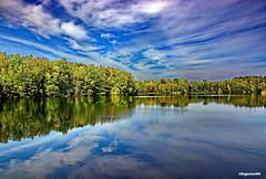 Am See (garzer06) Tags: wolken wolkenhimmel wasser herbst bume blau grn weis inselrgen deutschland insel vorpommernrgen rgen mecklenburgvorpommern spiegelung reflexe vorpommern landschaftsbild naturephotography landschaftsfoto landschaftsfotografie herbstlandschaft naturfotografie landscapephotography landschaft
