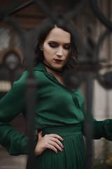 (pitrih) Tags: emerald green mysterious gothic portrait female girl vintage fashion retro