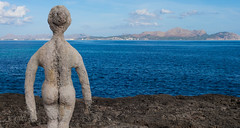 """""""C'an Picfort"""" statue. (CWhatPhotos) Tags: canpicfort majorca spain bum naked bottomstatue art spotting mallorca cwhatphotos camera photographs photograph pics pictures pic picture image images foto fotos photography artistic that have which contain with olympus four thirds 43 spanish island october 2016 weather sea blue water coast coastal view mediterranean clear day sunny balearic islands balearics"""