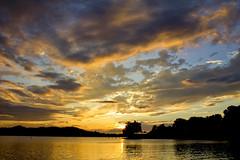 Bonelli Regional Park sunset (BDFri2012) Tags: sunset clouds cloudy bonellipark bonelli lake sun reflection losangelescounty california ca southwestunitedstates southerncalifornia americansouthwest
