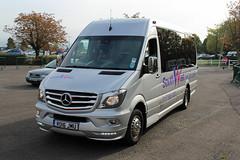 South West Minibuses, Bristol RO16 JMU, Mercedes Sprinter in Cheltenham (majorcatransport) Tags: bristolbuses southwestminibusesbristol mercedesbenz mercedessprinter evm cheltenham