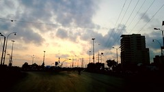 City on a Sunday (Amima Sayeed) Tags: karachi phoneography soop landscape sunset