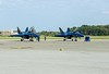 Blue Angels & pilots (cmfgu) Tags: martinstateairport essex md maryland baltimorecounty openhouse fleetweek airshow blueangels mcdonnelldouglas fa18hornet unitedstatesnavy usn airplane aircraft jet aerobatic flight demonstration team tarmac pilots