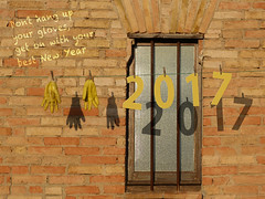 Happy New Year 2017 (Pintanescu) Tags: newyearresolution goodintentions happynewyear window message gloves inspiration typography