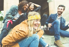 Group of four friends laughing out loud outdoor, sharing good an (zkmonster) Tags: adolescence adult app attractive background boy camera carefree casual caucasian closeup college colorful couples cute day enjoying family fashion four friend friendly friends friendship fun funny girl girlfriend group guy happy hippie hipster humor joke joy laugh laughing leaning lifestyle male man mobile natural outdoor outside park people photo posing selfie smile smiling spring stairs street student students taking teen together tourism tourist travel vacation video vintage watching woman young youth university italy