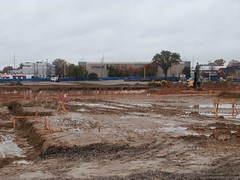 Early December 2016 view, of the Sears Laurelwood mud pit! (l_dawg2000) Tags: 1950s apparel closed craftsman demolition departmentstore electronics labelscar laurelwood lawngarden memphis poplarave reit retail sears searsholdings shc stores tennessee tn tools vintage unitedstates usa