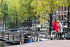 Selfie in Amsterdam (George Pachantouris) Tags: amsterdam holland netherlands canals herengracht keizersgracht bicycle canal selfie photo