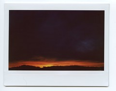 Daylight Savings (Past Our Means) Tags: daylight savings twilight sunset end goodnight fujifilm fuji fujifilminstax istillshootfilm mountain hiking instant instax instaxwide wide 210 filmisnotdead analog analogue clouds