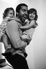 Double Pack (FranciscoEvangelista) Tags: double pack party wedding daughter blackwhite bw monochrome smile joy play people contrast classic fuji fujifilm xpro2 blackandwhite 23mm