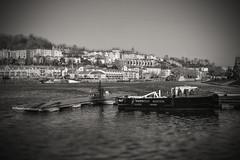 Bristol Harbour... (Dafydd Penguin) Tags: blackandwhite blackwhite black white bw monochrome master harbour harbor port dock water sea city urban centre underfall yard cumberland basin tilt shift nikon df nikkor 50mm af f14d