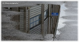 Reflection of the Elland road 'North stand'.