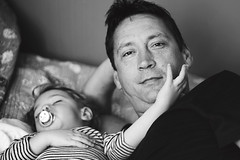 Son and father / Sin i otac (Gordana AM) Tags: wwwgordanaphotocom gordanamladenovic gordana photography photographer photo portcoquitlam bc britishcolumbia vancouver lowermainland canada lepiafgeo child boy son kid baby toddler man father dad daddy family parent parenthood two together love connection connected quiet asleep awake bw duotone gentle touch protected safe protector