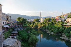 Mostar 04 (mpetr1960) Tags: mostar bosnia gerzegovina river building city cityscape tour town mosque reflection nikon d810