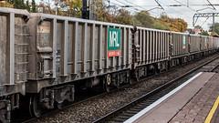 JNA 3907 (JOHN BRACE) Tags: jna 3907 aggregates open wagon seen mrl grey livery built 2000 by marcroft part 1104 oxford banbury road acton tc passing ealing broadway 1325