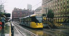 UK - Manchester tram (onewayticket) Tags: tram transport urban metrolink bombardier m5000 bombardierm5000 film zenit zenit12xp sirius sirius2828 canoscan9000f