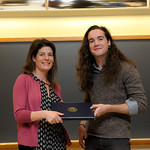 Professor Eva Pomerantz, Thane Fowler: Honors in Psychology & James E. Spoor Scholarship recipient