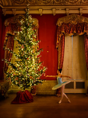 In Position (Phil W Shirley) Tags: week452016 52weeksthe2016edition weekstartingfridaynovember42016 ballet dancer fairy christmas tree chatsworth house stately home derbyshire uk red glow lights