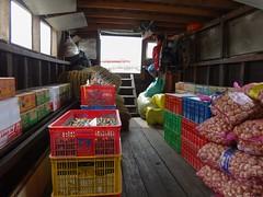 Cargo (program monkey) Tags: vietnam mekong river delta cargo boat ben tre tra vinh garlic bags instant noodle boxes quail egg crates