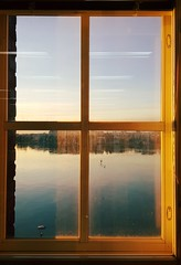 Window (Anne Susan Karine) Tags: window itmeri finland water sunset winterfinland coldweather cold clearbluesky meri