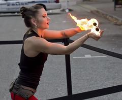 2016 Hollydazzle Newport News Virginia fire dance lady (watts_photos) Tags: 2016 hollydazzle newport news virginia fire dance lady eater fireeater dancing acrobatics event performance performer