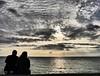 WaiTinG. (Warmoezenier) Tags: clouds couple duo genieten gozamos jans mensen neeltje noordzee people romantic romantisch sea stormvloedkering waiting wolken zeeland