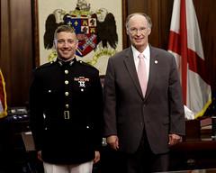 05-21-2013 Auburn University ROTC Members visit Governor Bentley