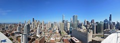 A panoramic skyline view from Hubbard Place (YoChicago) Tags: panorama chicago apartments highrise luxury rivernorth newconstruction rentals nearnorthside yochicago mchughconstruction habitatcompany hubbardplace 360whubbard