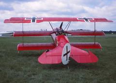 Fokker Dr.I Replica (Pentakrom) Tags: show plane fighter aircraft aviation air north german 1984 service meet dri fokker weald triplane dreidecker gbefr