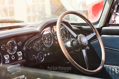 Aston Martin DB5 Superleggera interior (Cook24v) Tags: show castle classic car wheel canon silver boot james steering martin interior 85mm badge bond mk2 5d bonnet aston dials db5 prestige powderham superleggera crashbox f12l