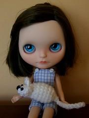 Moikka got a little white mouse from Ewa :D