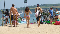 The heat is on the beach in the driest July since records began in 1766 (Le monde d'aujourd'hui) Tags: uk sea summer sun beach sand dorset heat nationaltrust purbeck studland studlandbay knollbeach