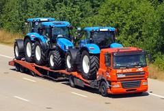 DAF FZA 03167 - De Rooy (gylesnikki) Tags: orange truck artic rigid drawbar derooy
