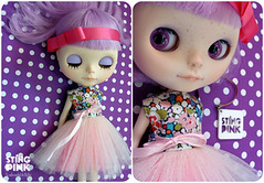 25. Custom Blythe Doll - Lavender Hug (DanielaPink  PinkShop) Tags: hug ooak lavender blythe blythecustom