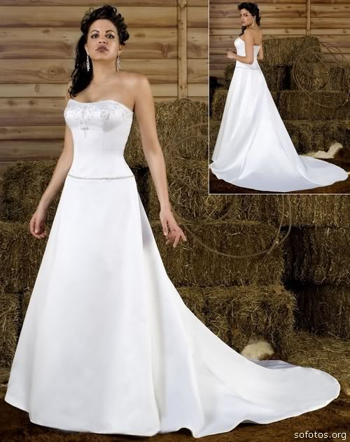 Vestido de noiva tomara que caia clean