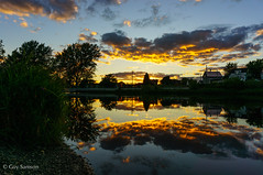 10 août 2013 (guysamsonphoto) Tags: sunset river rivière reflexions coucherdesoleil victoriaville victo fabuleuse rivièreduquébec rivièrenicolet guysamson sonynex6 sony1650oss