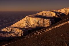 Rebmann Glacier at Sunrise on Summit Day (dako9) Tags: kilimanjaro sunrise glacier summit gletscher gipfel kilimandscharo rebmann