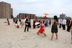 IMG_5171 (yiching.lin) Tags: nyc newyorkcity beach brooklyn fun coneyisland sand dress formal improv tux improveverywhere coneyislandbeach