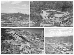 Sepinggan Airport Balikpapan 1945 (Chaz Tumbelaka Photography) Tags: old airport war craft borneo planes ww2 mitchell 1945 liberator raaf boomerang awm balikpapan sepinggan orloog