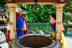 One song (EverythingDisney) Tags: couple princess disneyland royal prince disney snowwhite dlr theprince wishingwell snowprince