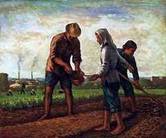 Yu Ben (1905-1995) - 1948 Sowing Seeds (Christie's Hong Kong, 2010) (RasMarley) Tags: 1948 landscape group chinese 1940s painter pastoral 20thcentury realism christies sowingseeds yuben
