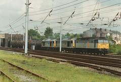 """Locomotives 47287, 60047 """"Robert Owen"""", &  60066 """"John Logie Baird"""" (37190 """"Dalzell"""") Tags: spoon doughnut tug duff wigan robertowen rfd johnlogiebaird class47 class60 railfreightdistribution 47287 triplegrey springsbranch brush4 60047 60066 class470 trainloadfreight trainloadcoal"""
