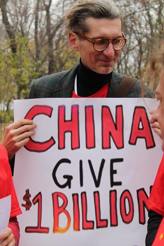 Ukraine: China Global Fund Protest
