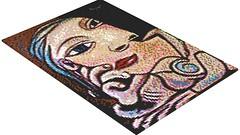 Picasso - Tete de femme - Dora Maar 2 LEGO Mosaic (rasesp) Tags: lego mosaic femme mosaico picasso tete pablopicasso doramaar tetedefemme