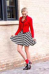 A Very Roll Tide Weekend (Thedrawingmannequin) Tags: red black fashion socks university military tide alabama jacket oxford button roll re ankle solider oxfords matelot rtr ootd jeffreycampbell
