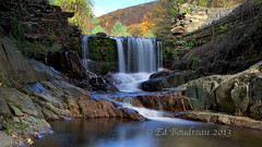 Bissell Damn (Ed Boudreau) Tags: autumn fall water rock landscape waterfall stream massachusetts falls photographyforrecreationeliteclub flickrsfinestimages1 flickrsfinestimages2 flickrsfinestimages3 massachusettslandscapeoldrockbridge westermmassachusetts